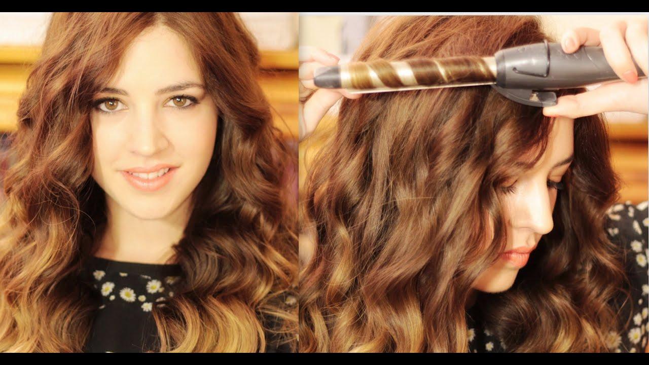 cmo hacer rizos con tenacillas youtube - Peinados Con Tenacillas