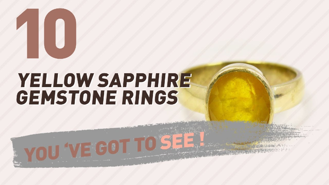 Jewelryonclick 6 Carat Natural Yellow Sapphire 925 Sterling Silver Ring For Men