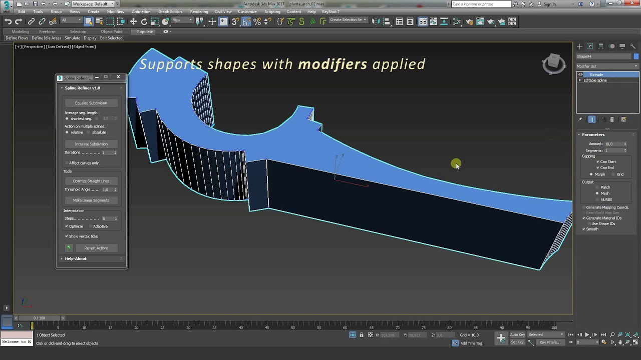 Spline Refiner 3dsMax script - Plugins Reviews and Download