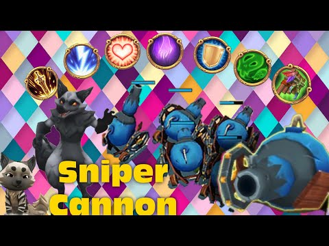 Royal Revolt 2 L How To Do Use  Sniper Cannon ? ( 3 Different Combo )