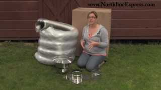 Diy Chimney Liner Single-wall Kit With Stovetop Adapter