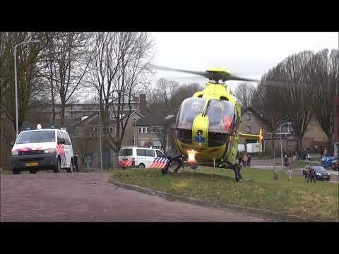 Lifeliner 3 en politie met spoed naar Diderik Vijghstraat Tiel