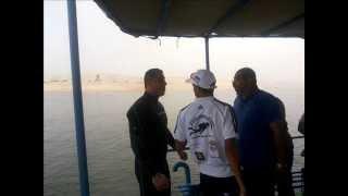 البطل المصرى ولاء حافظ يبدأ أطول غطسة فى القناة4 أغسطس 2015