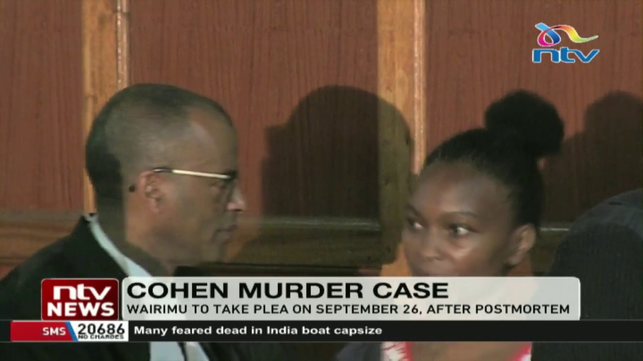 Tob Cohen Murder: Sarah Wairimu to be detained for more days
