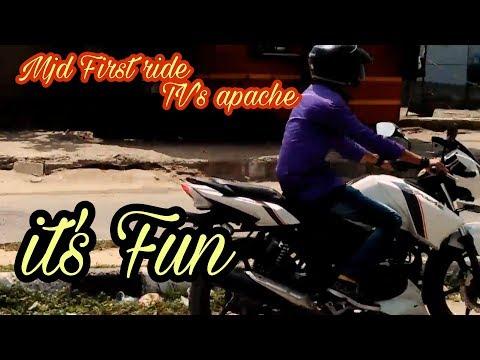 Mjd first ride|tvs apache|nice experience