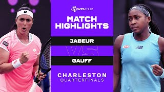 Ons Jabeur vs. Coco Gauff | 2021 Charleston Quarterfinals | WTA Match Highlights