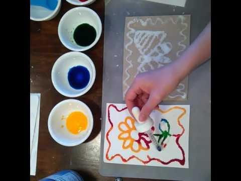 3d salt art project fun craft idea youtube