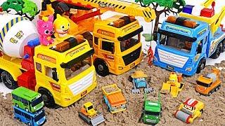 Let's go Pororo strong Crane truck, Tow truck, Tixer truck!