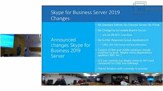 SfB UG Meeting 06 - Session 04 - Skype for Business Server vNext