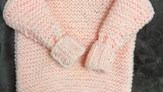 Детский свитер спицами видеоурок