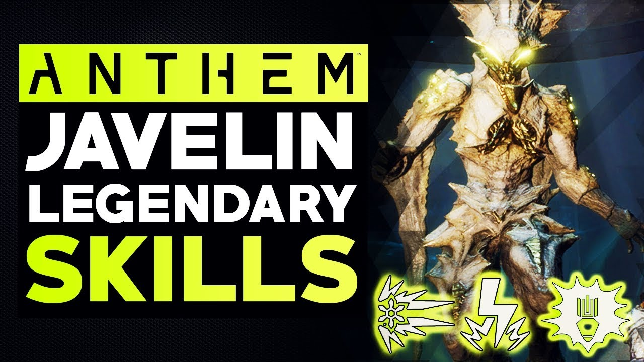 Anthem NEW UPDATES - All Legendary Javelin Abilities in the Cataclysm  Update & More PTS Changes