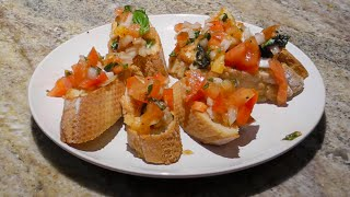 Incredible Basil And Balsamic Gluten Free Bruschetta