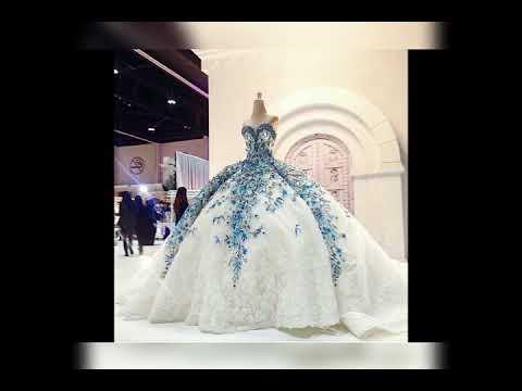 1ef24560f اجمل فساتين زفاف لسنه 2018 غايه في الروعه - YouTube