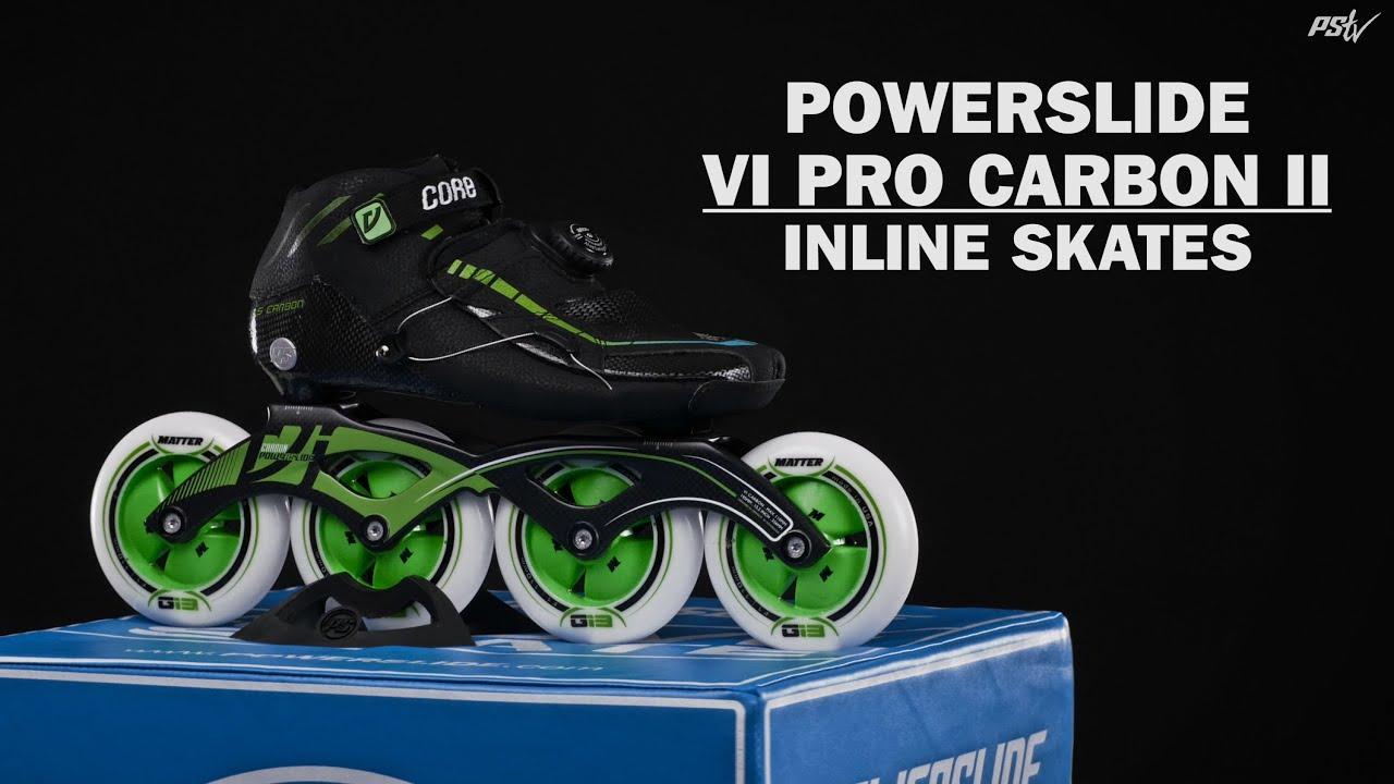 4342efd3e29 Powerslide VI Pro Carbon II Speed Skates - Black / Green - 42 kopen -  Justathlete.nl