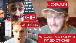 JOE WELLER, LOGAN PAUL & GIBBER talk WILDER vs FURY 2!