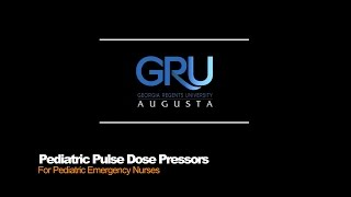 Pediatric Pulse Dose Pressor Administration