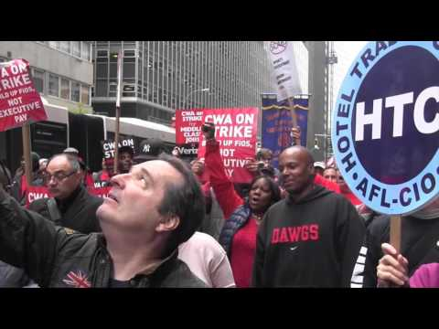 Verizon Worker's Rally in NYC