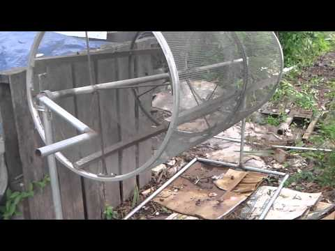 Rotating compost sifter/sieve/trommel