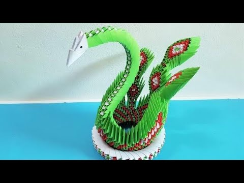 How To Make 3D Swan with Paper | 3D Origami Swan Tutorial | Craft Paper 3D Swan | DIY Paper 3D Swan