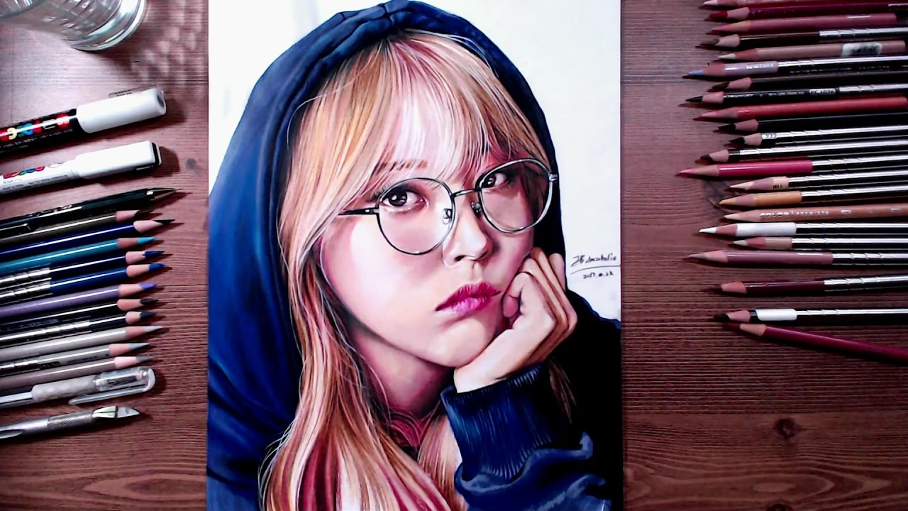 Mamamoo Moonbyul Speed Drawing Drawholic Youtube