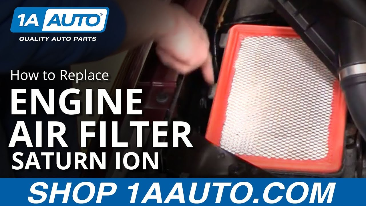 how to install replace service engine air filter saturn