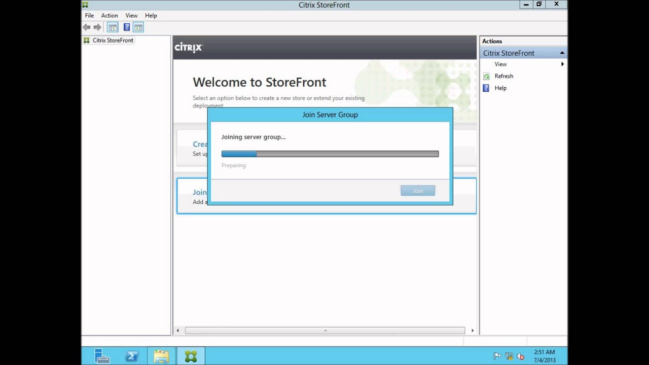Creating a Load Balanced Citrix StoreFront 2 0 Server Group