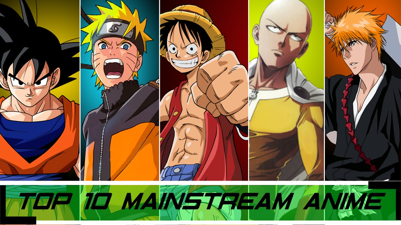 Top 10 Mainstream Anime - YouTube
