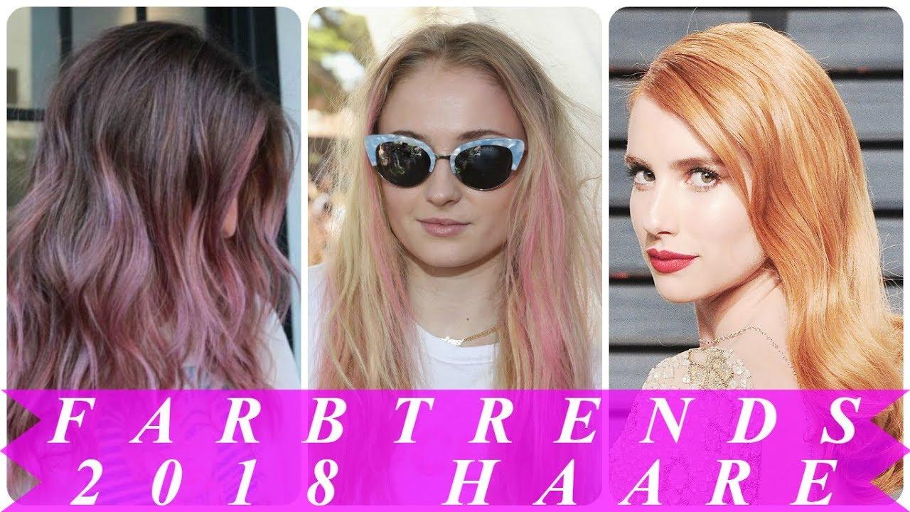 Faszinierend Haarfarben Trends 2018 Foto Von Coole Damen