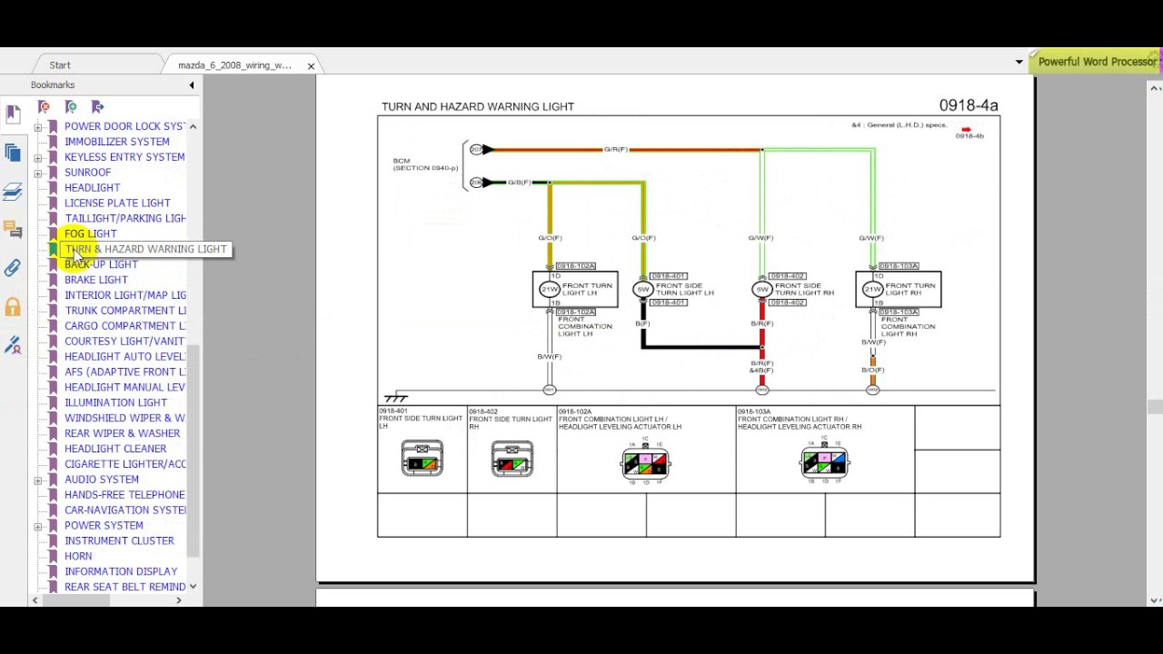 Mazda 6 2008 wiring, workshop manual dhtauto  YouTube