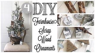 DIY Farmhouse Ornaments | 4 IDEAS!
