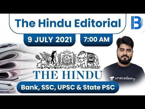 7:00 AM - The Hindu Editorial Analysis by Vishal Parihar   The Hindu Analysis   9 July 2021