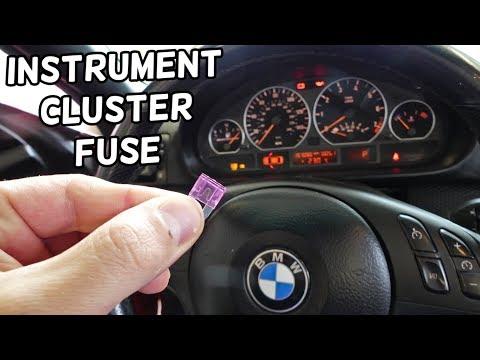 INSTRUMENT CLUSTER FUSE LOCATION REPLACEMENT GAUGES BMW E46 325I 330I 328I 320I 320D 318D 316D 330D