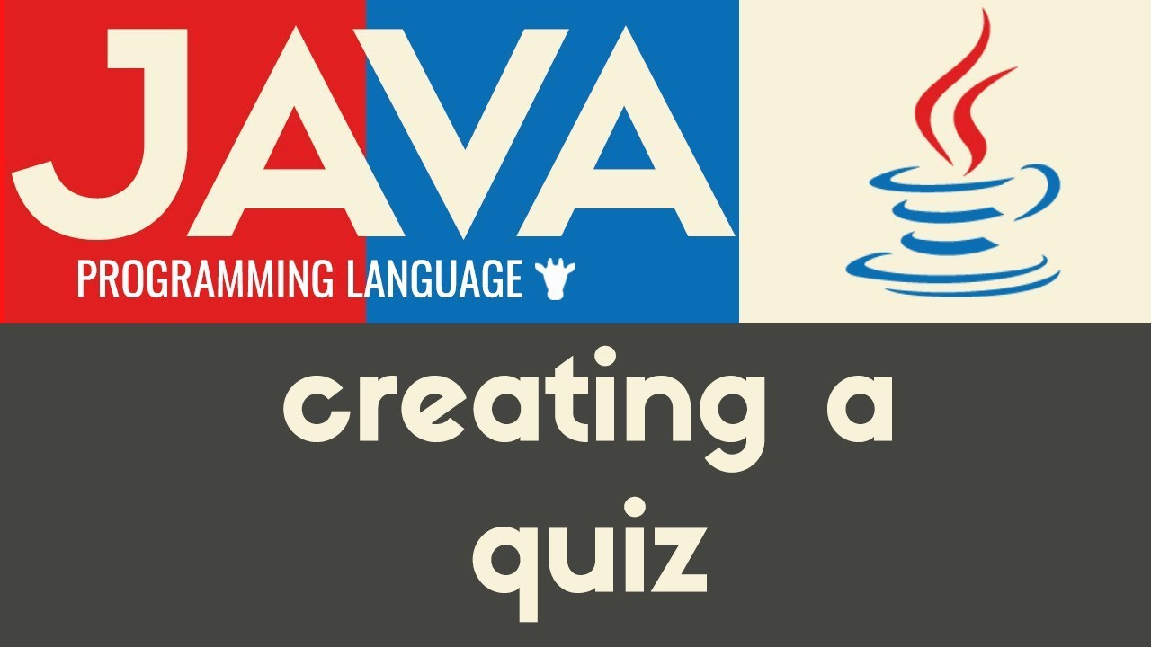 Building a Multiple Choice Quiz | Java | Tutorial 29