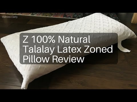 Z 100% Natural Talalay Latex Zoned Pillow Review Video