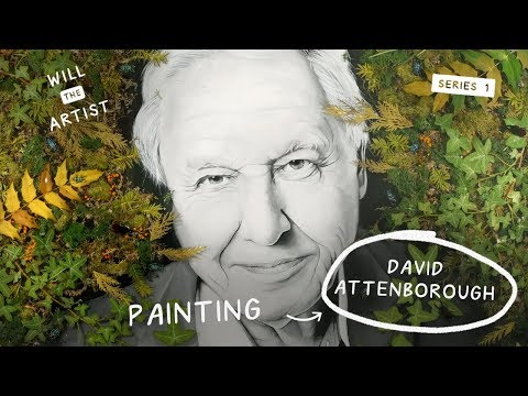 David Attenborough Resin Painting! ⚡️#DavidAttenborough Will the Artist