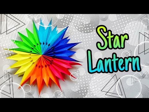 Festive Craft Ideas | DIY Paper Star Lantern | 5min Craft Ideas | Home Decor | Wall Hangings