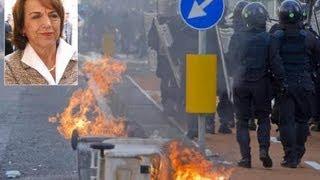 Fornero a Napoli feriti tra polizia e manifestanti
