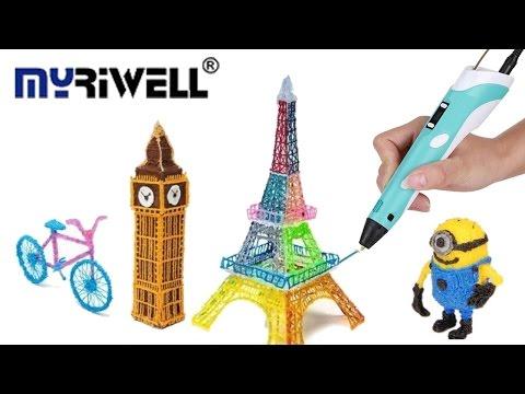 3D Pen from aliexpress DIY best Gift Children Graffiti 3D printer Drawing review ABS/PLA Filament