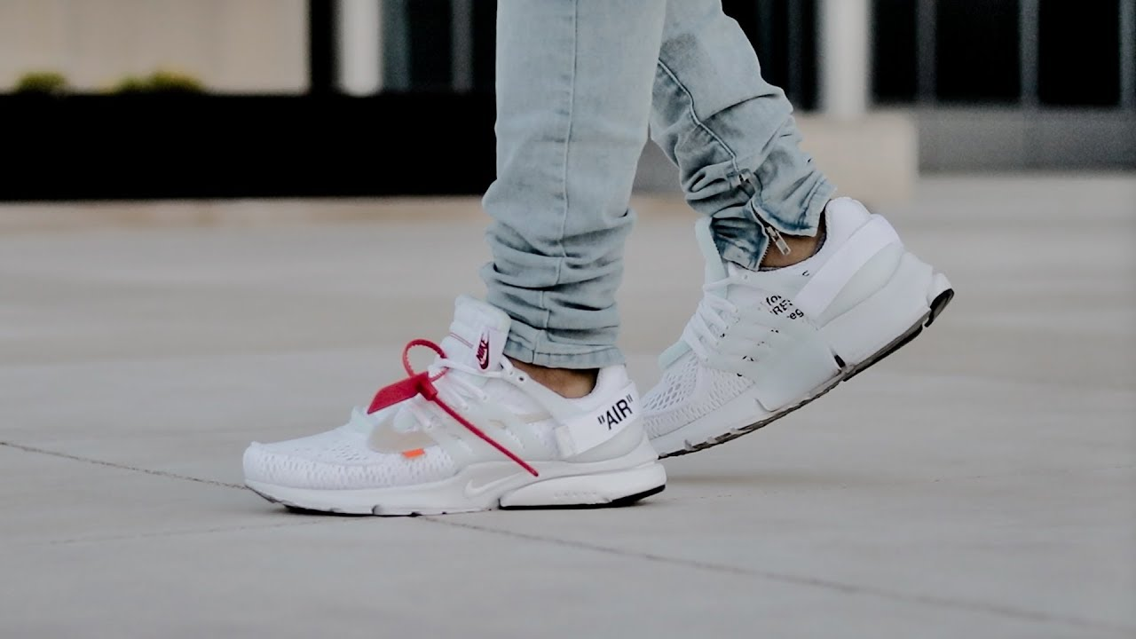 save off 5b4c1 a8d79 Off-White x Nike Air Presto White (On Foot)