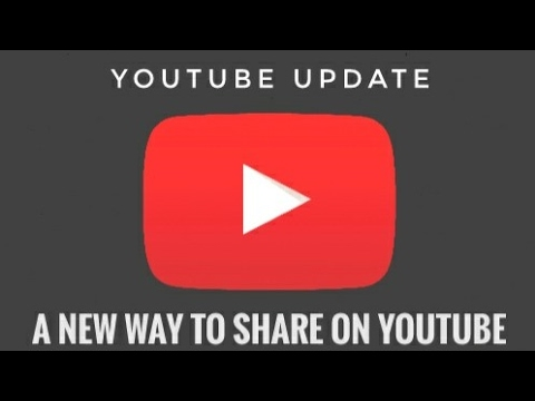 YouTube App Update | A new way to share on YouTube