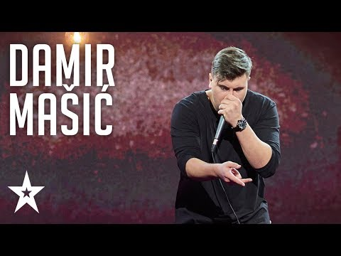 Damir Mašić has a cassette player in his stomach│Supertalent 2018│Semi-Finals