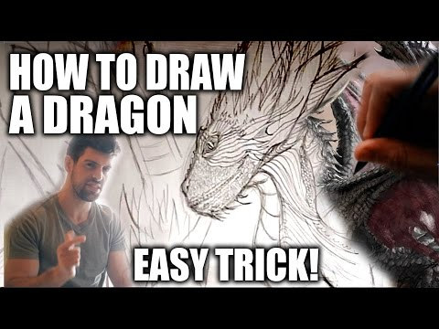 How to Draw a Dragon: Step by Step TRICK for Beginners!