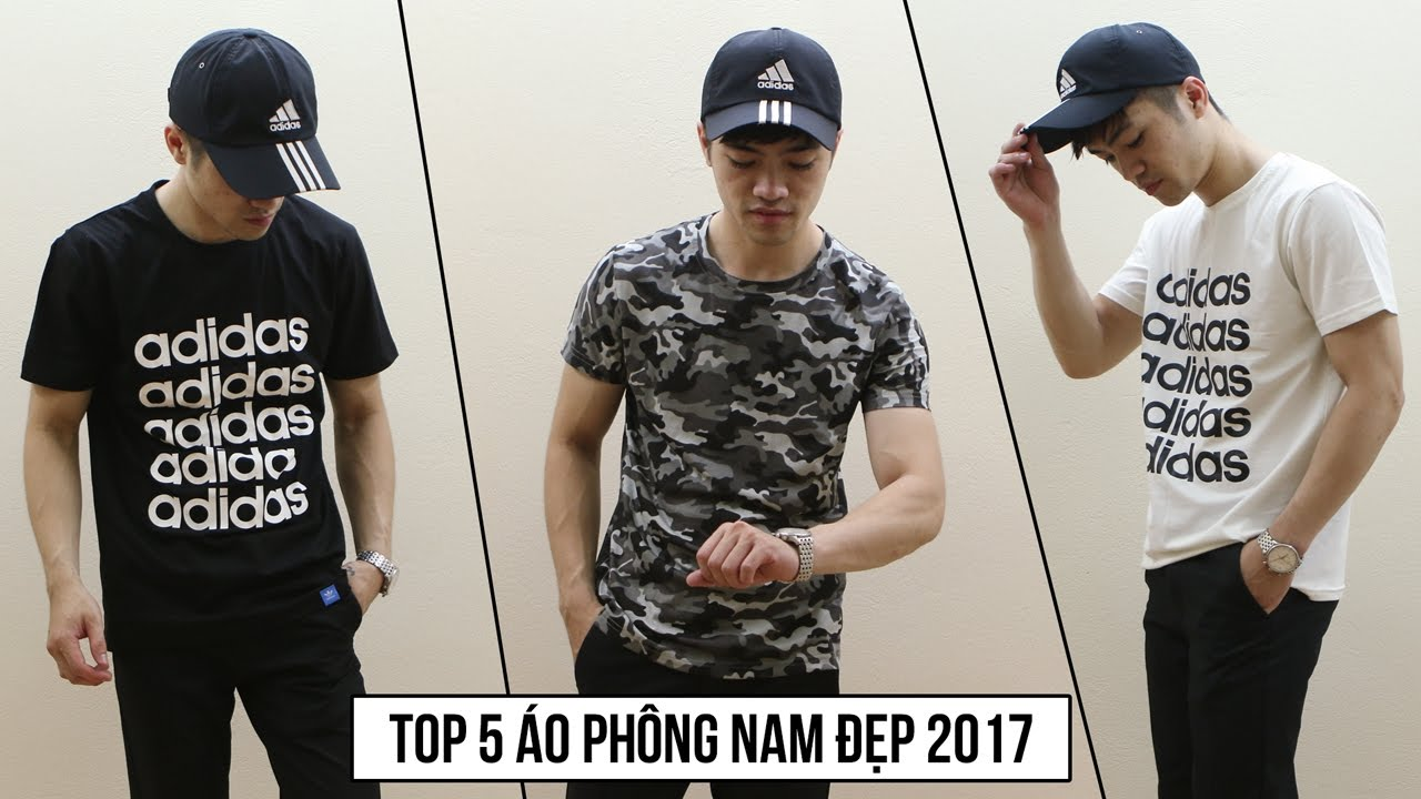 Tổng hợp  Áo Phông Nam 2017 – kiểu dáng đẹp, thể thao, trẻ trung năng động