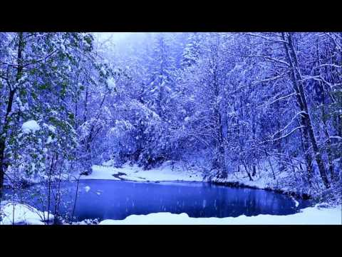 1 hour snowfall at a small lake in the woods  - Wellness Music - Nature Sound Relaxation