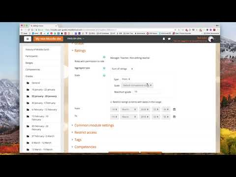 Moodle: Grade Forums With Ratings!