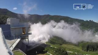 [KARI]한국형발사체 7톤급 엔진 2호기 580초 연소시험 측면 영상 이미지