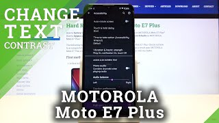 How to Activate High Contrast Text in MOTOROLA Moto E7 Plus – Find Contrast Options