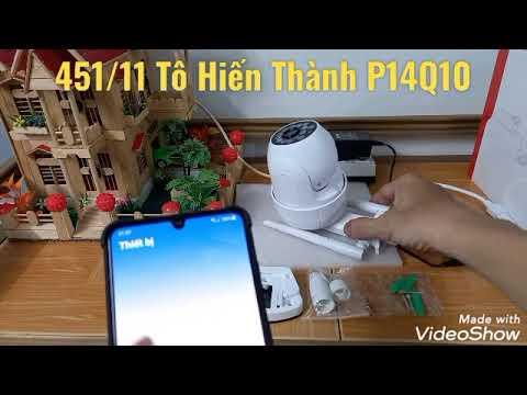 Cách cài đặt camera Yoosee PTZ 14 led