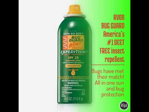 AVON BUG GUARD America's #1 DEET FREE insect repellent