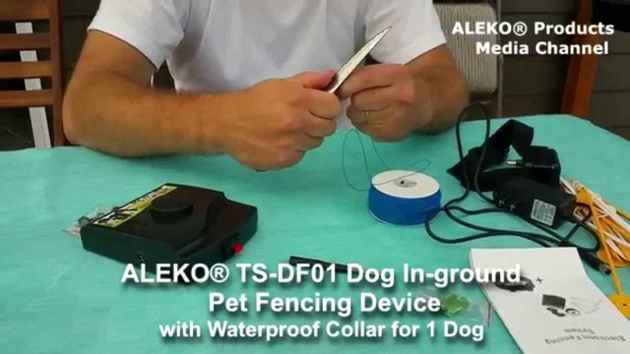 ALEKO® TS-DF01 Dog In-ground Pet Fencing Device with Waterproof ...